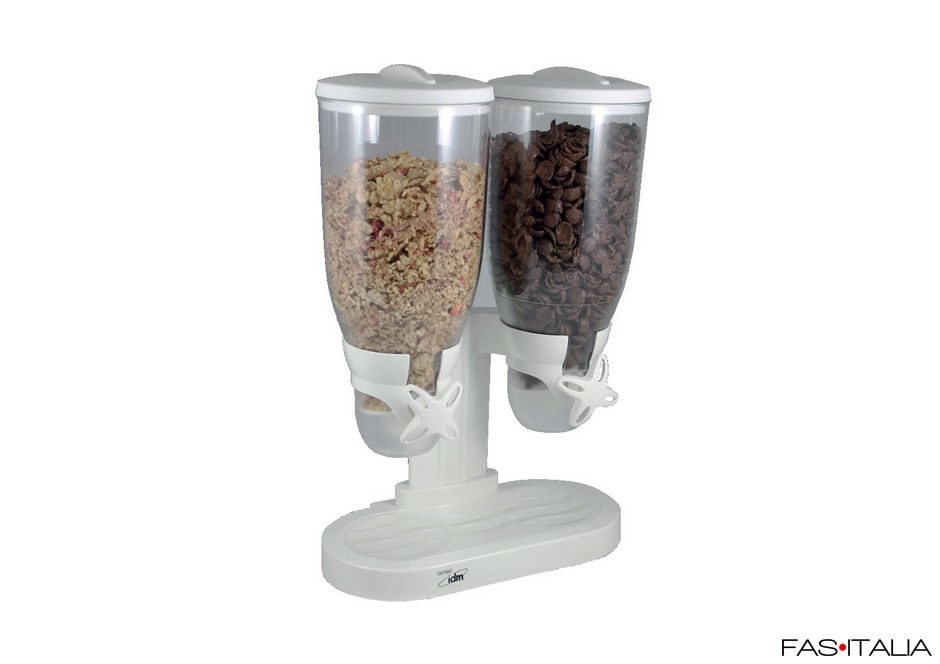 Dispenser cereali doppio in plastica 3,5x2 lt